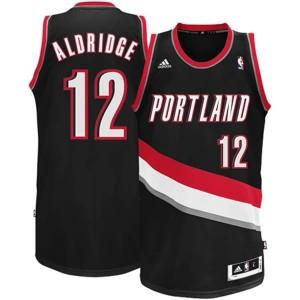 Canotte NBA Rivoluzione 30 Aldridge Portland Trail Blazers Nero