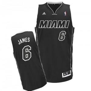 Canotte NBA Rivoluzione 30 James Miami Heats Nero