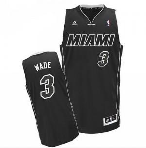 Canotte NBA Rivoluzione 30 Wade Miami Heats Nero