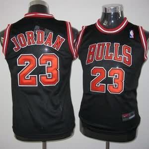 Maglie NBA Bambini Jordan Chicago Bulls Nero