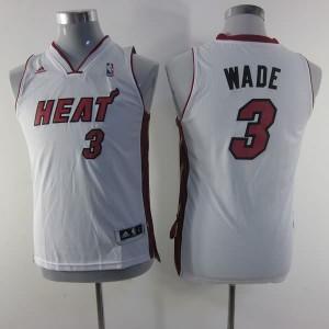Maglie NBA Bambini Wade Miami Heats Bianco