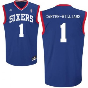Maglie Shop Carter Williams Philadelphia 76ers Blu