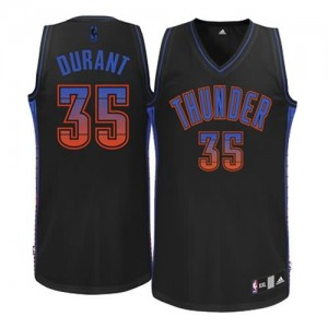 Maglie NBA Donna Durant Oklahoma City Thunder Nero