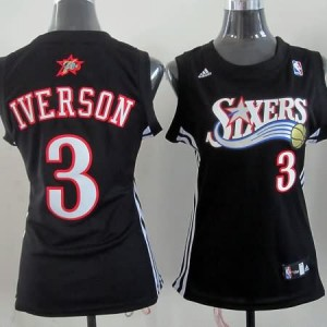 Maglie NBA Donna Iverson Philadelphia 76ers Nero