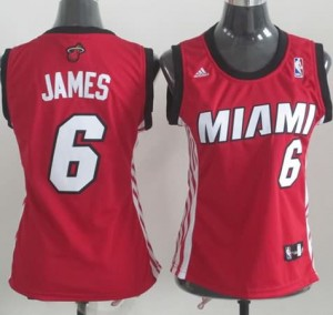 Maglie NBA Donna James Miami Heats Rosso