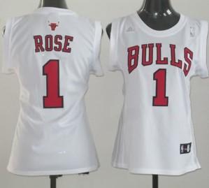 Maglie NBA Donna Rose Chicago Bulls Bianco