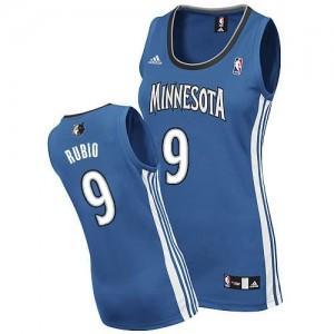 Italia Maglie Donna Rubio Minnesota Timberwolves Blu
