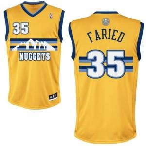 Canotte NBA Rivoluzione 30 Faried Denver Nuggets Giallo