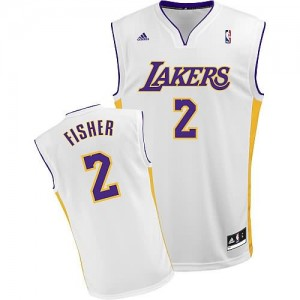 Maglie Basket Fisher Los Angeles Lakers Bianco