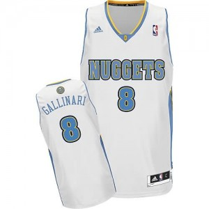 Canotte NBA Rivoluzione 30 Gallinari Denver Nuggets Bianco