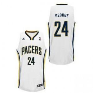 Canotte NBA Rivoluzione 30 George Indiana Pacers Bianco