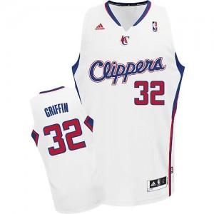 Canotte NBA Rivoluzione 30 Griffi Los Angeles Clippers Bianco