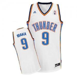 Canotte NBA Rivoluzione 30 Ibaka Oklahoma City Thunder Bianco