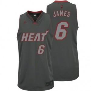 Canotte NBA Rivoluzione 30 James Miami Heats Grigio
