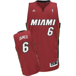 Canotte NBA Rivoluzione 30 James Miami Heats Rosso