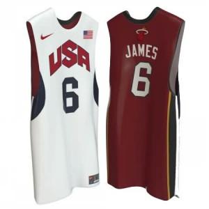 Canotte James USA 2012 Bianco Rosso