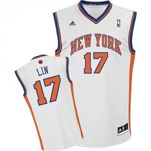 Canotte NBA Rivoluzione 30 Jeremy Lin New York Knicks Bianco