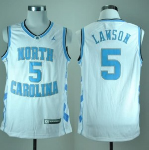 Canotte Basket NCAA Lawson North Carolina Bianco