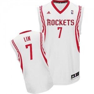 Canotte NBA Rivoluzione 30 Lin Houston Rockets Bianco