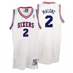 Maglie Basket Malone Philadelphia 76ers Bianco