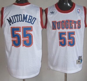 Maglie Basket Mutombo Denver Nuggets Bianco