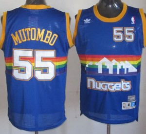 Maglie Basket Mutombo Denver Nuggets Blu