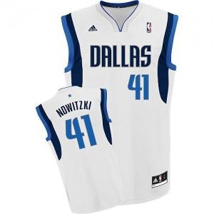 Canotte NBA Rivoluzione 30 Nowitzki Dallas Mavericks Bianco