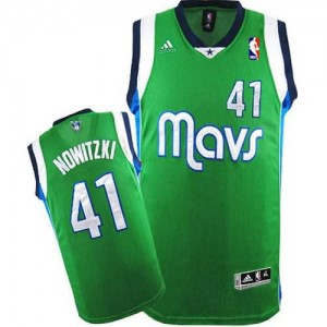 Maglie Basket Nowitzki Dallas Mavericks Verde