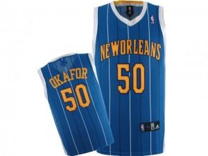 Canotte NBA Rivoluzione 30 Okafor New Orleans Hornets Blu