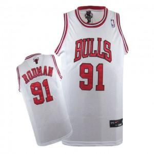 Maglie Basket Rodman Chicago Bulls Bianco