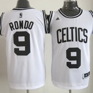 Maglie Basket Rondo Boston Celtics Bianco