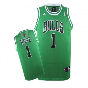 Maglie Basket Rose Chicago Bulls verde