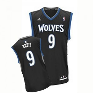 Canotte NBA Rivoluzione 30 Rubio Minnesota Timberwolves Nero