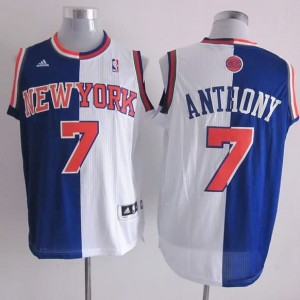 Canotte NBA Split Anthony Blu Bianco