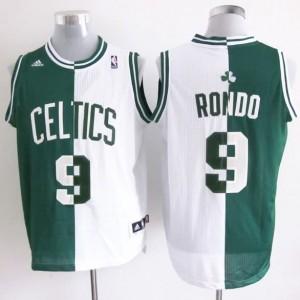 Canotte NBA Split Rondo Verde Bianco