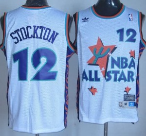 Canotte NBA Stockton All Star 1995 Bianco
