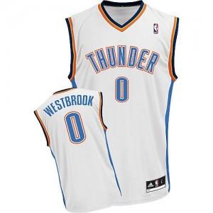 Canotte NBA Rivoluzione 30 Westbrook Oklahoma City Thunder Bianco