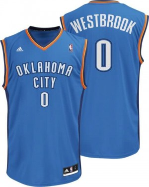 Canotte NBA Rivoluzione 30 Westbrook Oklahoma City Thunder Blu
