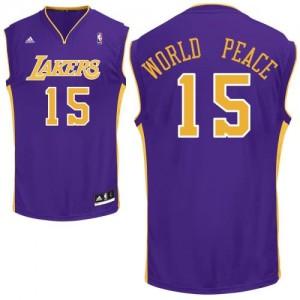 Canotte NBA Rivoluzione 30 WorldPeace Los Angeles Lakers Porpora