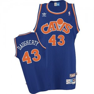 Maglie Basket retro Daugherty Cleveland Cavaliers Blu