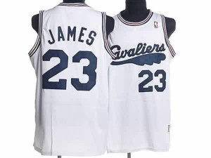 Maglie Basket retro James Cleveland Cavaliers Bianco