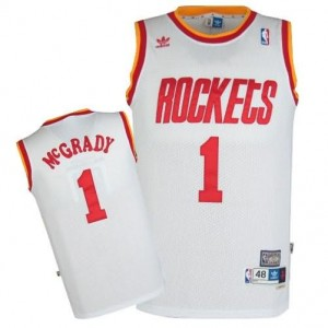 Maglie Basket retro McGrady Houston Rockets Bianco