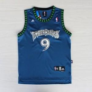 Maglie Basket retro Rubio Minnesota Timberwolves Blu