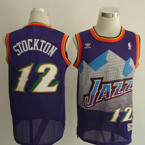 Maglie Basket retro Stockton Utah Jazz Porpora