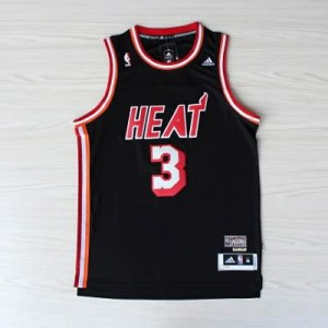 Canotte NBA Rivoluzione 30 retro Wade Miami Heats Nero