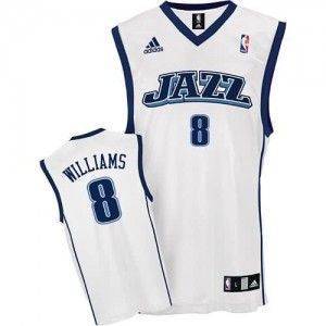 Maglie Basket retro Williams Utah Jazz Bianco