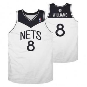 Canotte NBA Rivoluzione 30 retro Williams Brooklyn Nets Bianco