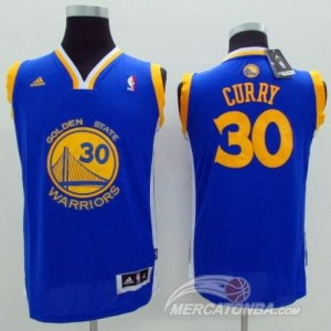 Maglie Bambini Curry Golden State Warriors Blu