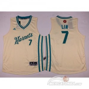 Maglie NBA Bambini Lin New Orleans Hornets Bianco