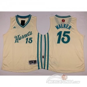 Maglie NBA Bambini Walker New Orleans Hornets Bianco